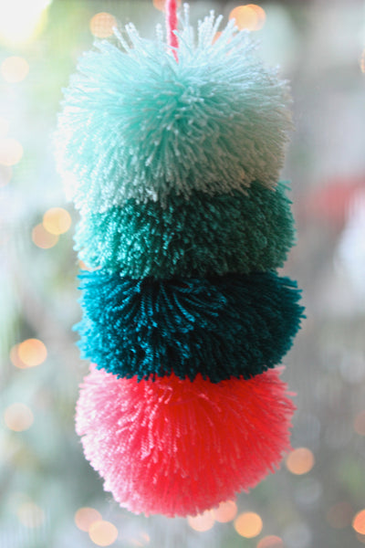 Sayulita Sunrise Pompom Wow Hanging