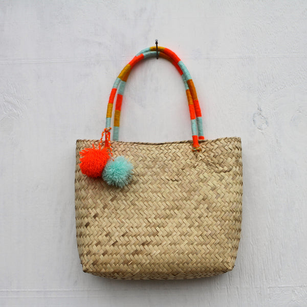 Pompom Wow Tehuacan Basket Bag
