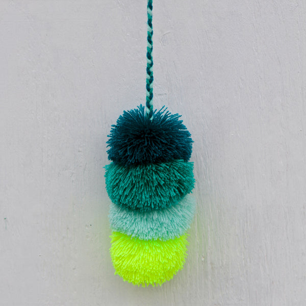 Sea Glass Pompom Wow Hanging