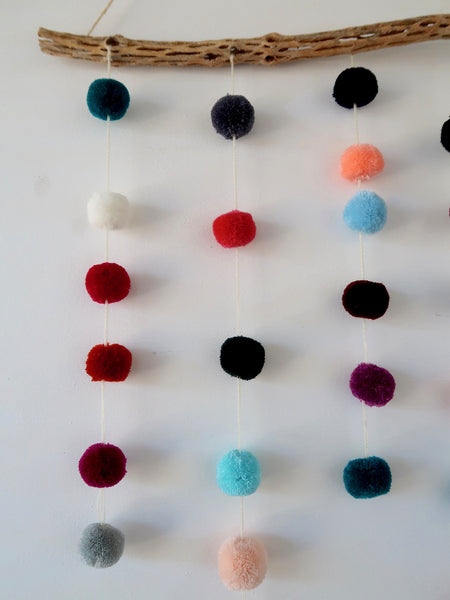 Mini Pompom Wall Hanging Multi Color