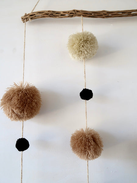 Pompom Wall Hanging Detail