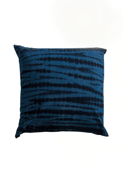 Dark Indigo Shibori Pillow 24 x 24