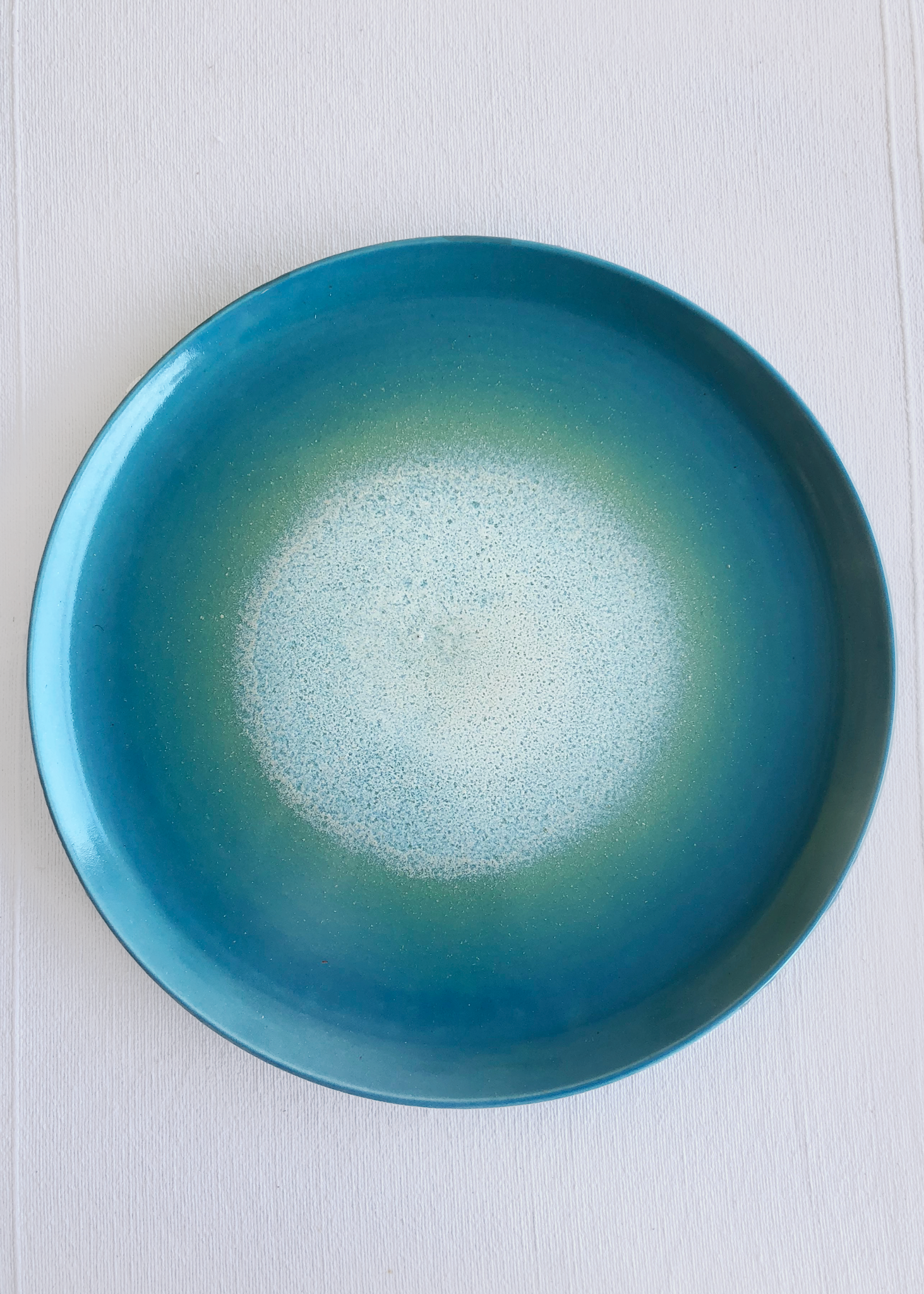 Ceramic Large Platter in Ocean Glaze