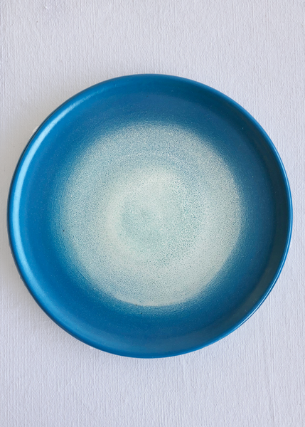 Ceramic Medium Platter in Ocean Glaze