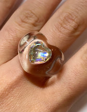 Load image into Gallery viewer, IRIDESCENT HEART GEM RING