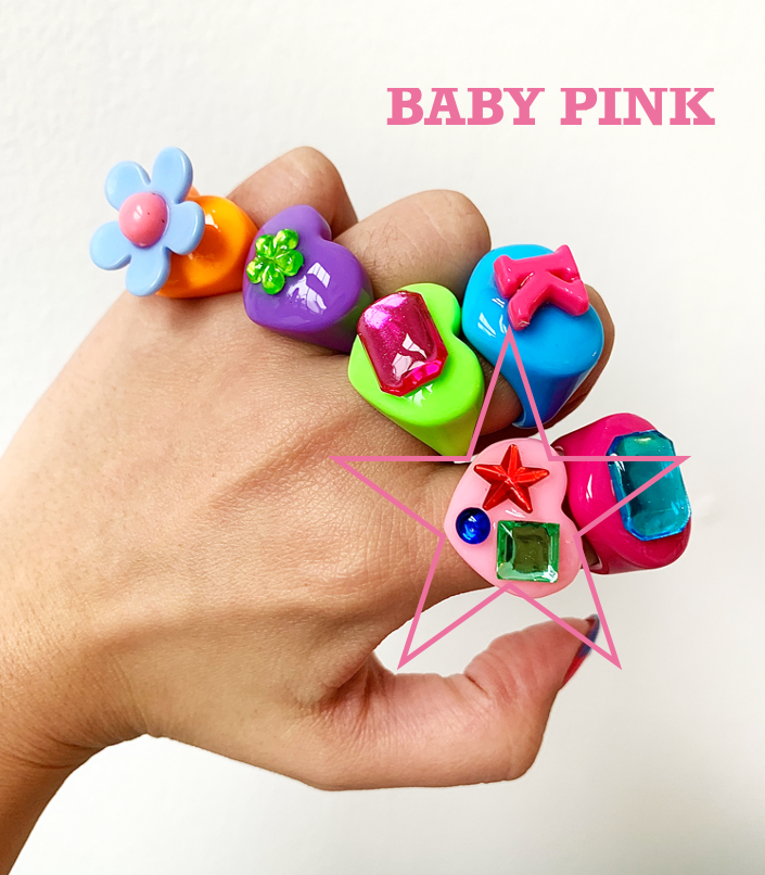 BABY PINK RAINBOW LUCKY RING