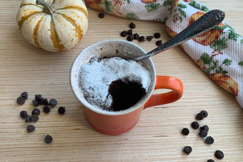 Chocolate Pumpkin Mug Cake