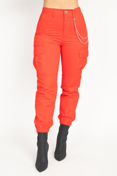 Chained To The Beat Cargo Twill Jogger Pants