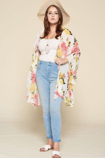 Breeze By Me Flowy Kimono With Dramatic Bell Sleeves