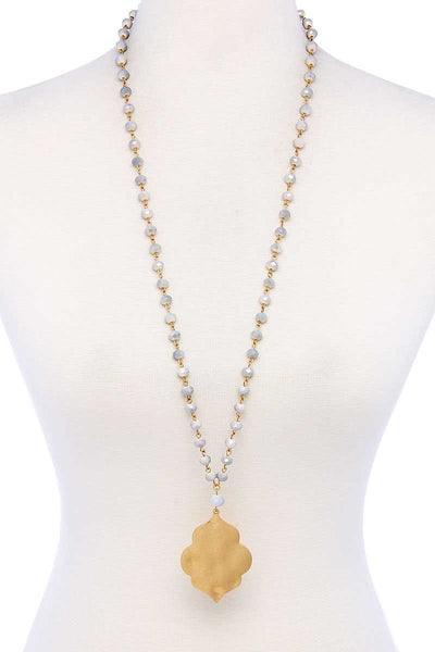 All About Zen Multi Bead Pendant Necklace