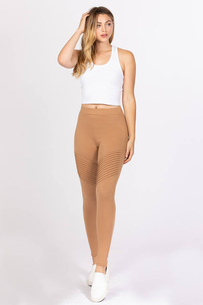 Valued Love Pintuck Detail Ponte Pants