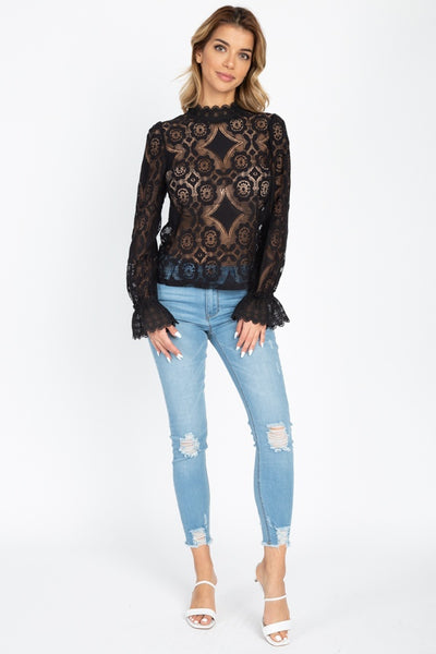 Made You Look Crochet Lace Top