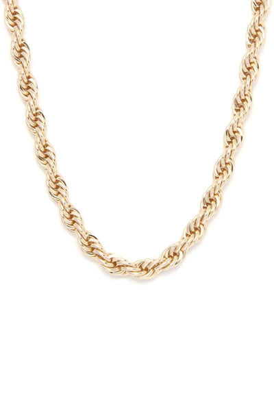 Twist & Shout Short Chain Necklace & Earring Set