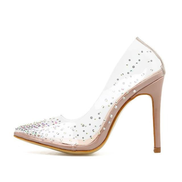 Fashion Glitter Colorful Rhinestones Women Pumps