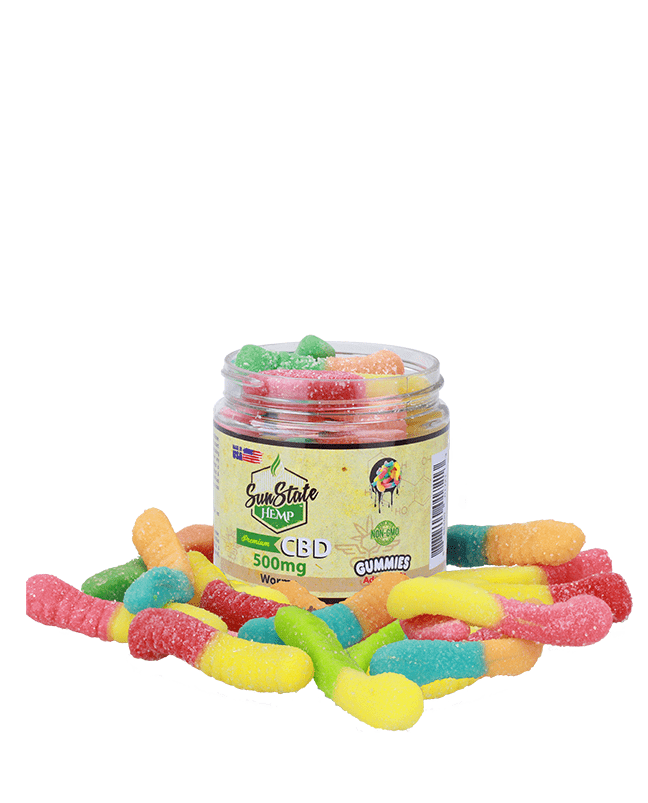 Sunstate Hemp Gummies Worms 500mg - ESWSupply