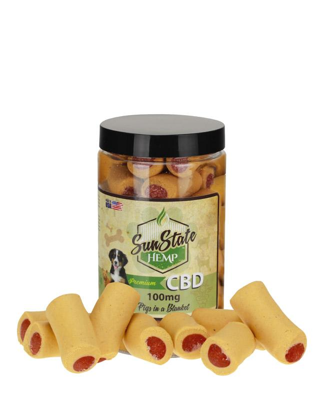 Sunstate Hemp Pet Treats Pigs in a Blanket 100mg - ESWSupply