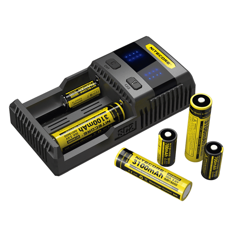 NITECORE SC2 SUPERB 3A BATTERY FAST CHARGER - TWO BAY - Ohm City Vapes