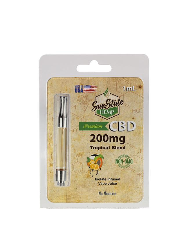 Sunstate Hemp Pre-filled 1ml Cartridge 200mg Tropical Blend - ESWSupply