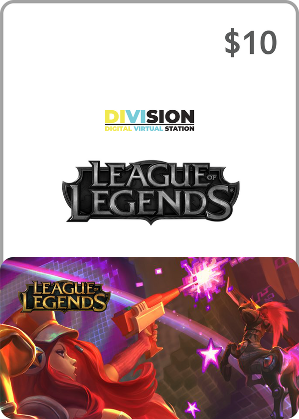 League of Legends $10 USA Game Card