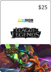 League of Legends $25 USA Game Card
