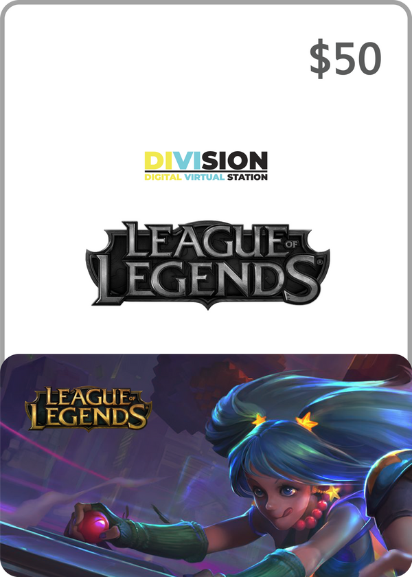 League of Legends $50 USA Game Card