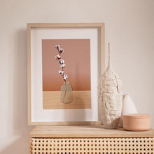 Load image into Gallery viewer, vase with cotton branch poster