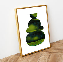 Load image into Gallery viewer, Green vase print