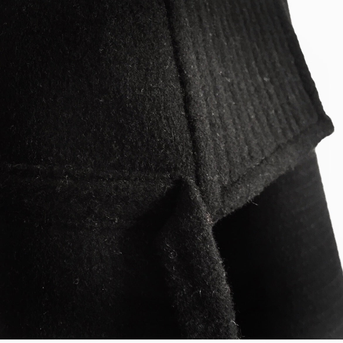 agender | double-face wool, 7/8 agender zencoat...black...made by order