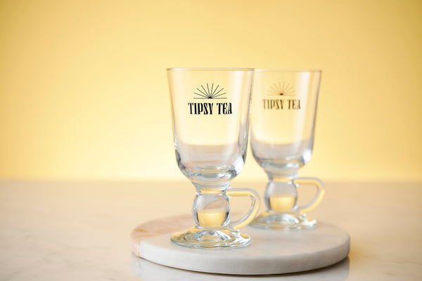 Glass Tipsy Tea Cup Set