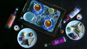 Tipsy Tea Afternoon Gift Set Teacup Measure Snack Suggestions and Playlist
