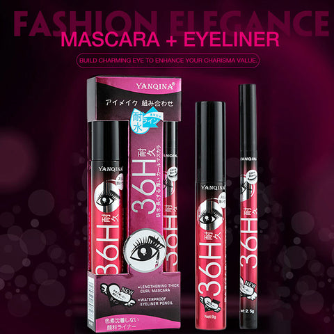 36H Long Lasting Black Mascara & Eye liner discounted Pack