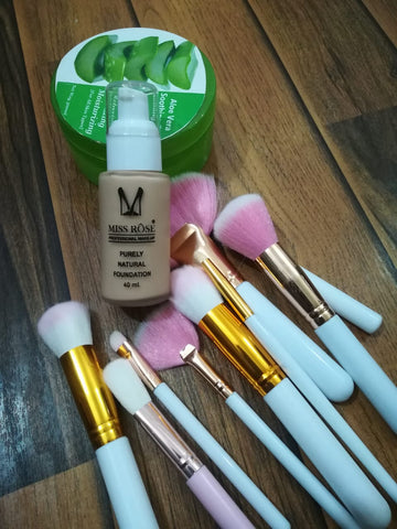 3in1 Makeup deal, Makeup brushes, foundation, face Gel, awesome quality made Beauty Products