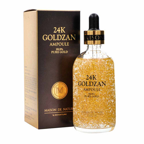 24k Goldzan Ampoule Pure gold beauty glamor Maison de nature  for skin Moisturizing