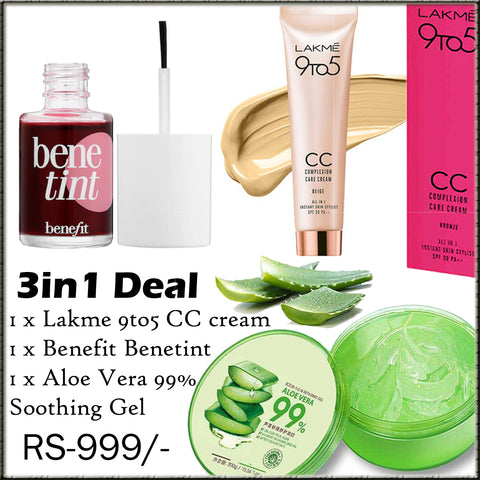 3in1 Discounted Deal, Foundation, Face Gel & Benetint Benefit