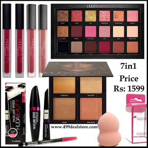 Huda Beauty Super Deal 7in1 Discounted Price Makeup deal