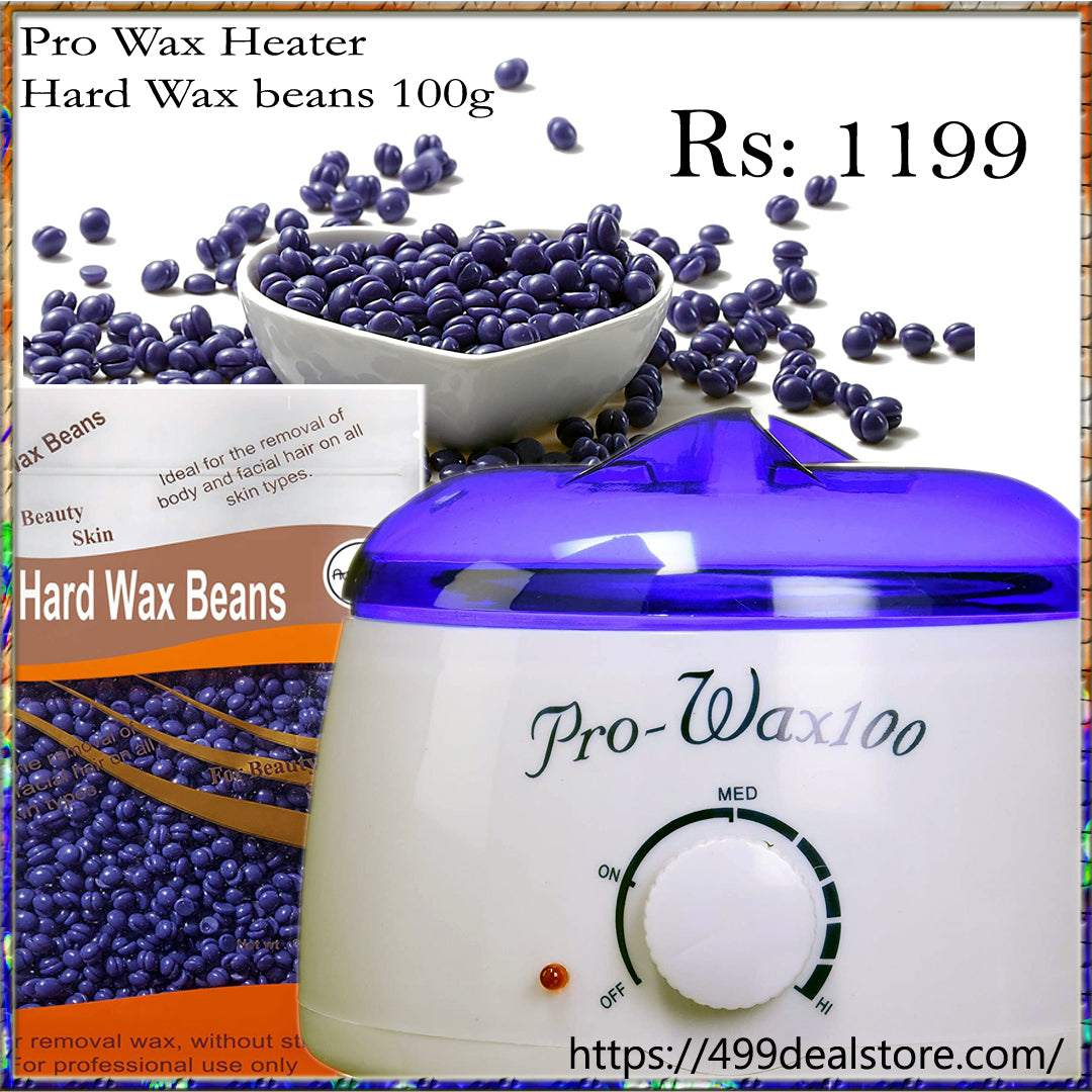 Pro Wax 100 Wax Heater & Hard Wax beans 100g in discounted price new edition new arrival