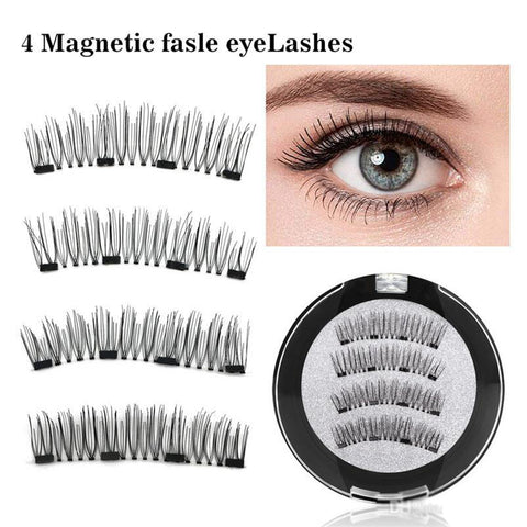 Astonishing Lash combs Magnetic False eye lashes 4-Pcs for women