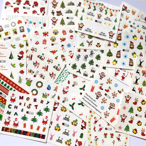 24 sheets of Christmas nail decals