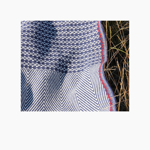 picture of two patterns belonging to our poncho Belmonte