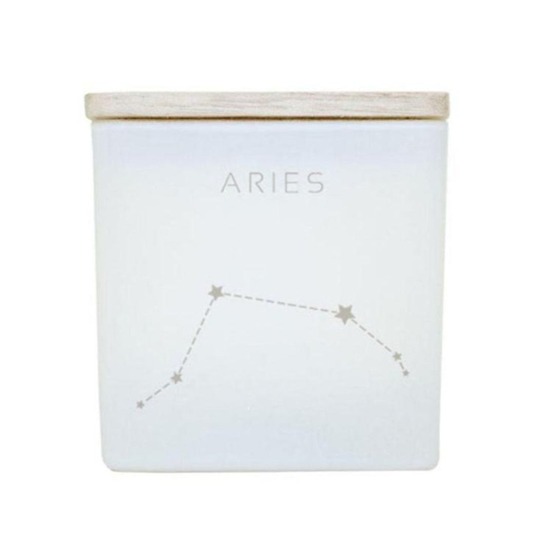 Astrology Candle - White