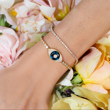 Load image into Gallery viewer, Diamond Evil Eye Bracelet