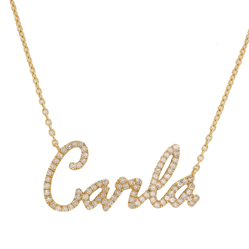 Script Name Diamond Necklace