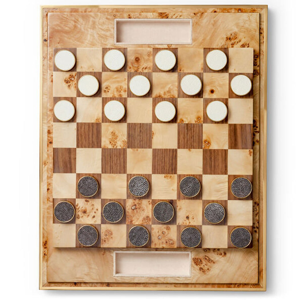 Shagreen Checkers Set