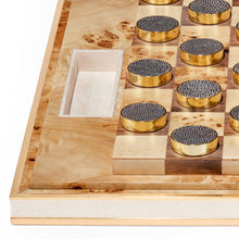 Load image into Gallery viewer, Shagreen Checkers Set