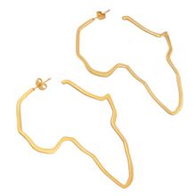 Load image into Gallery viewer, Motherland Hoop Africa Earrings (5965997047980)