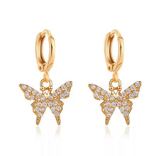 Load image into Gallery viewer, The Butterfly Rhinestone Earrings (6020376887468)