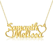 Load image into Gallery viewer, Personalized Double Name Necklace