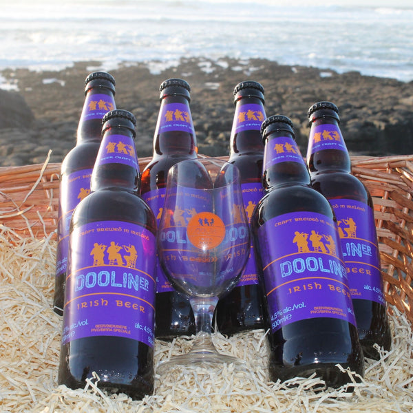Dooliner Glass & 6 Pack Beer Gift Set