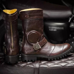 Emerens - Stylish leather boots with orthopedic sole