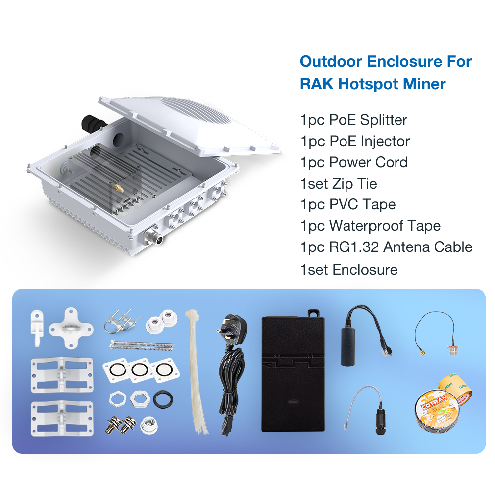 Outdoor Enclosure Kit for RAK Hotspot Miner - Parley Labs